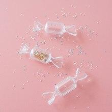 5 pçs adorável menina coração doces transparente caixa série mão diy fazendo suprimentos artesanato colar pulseira de armazenamento material artesanato
