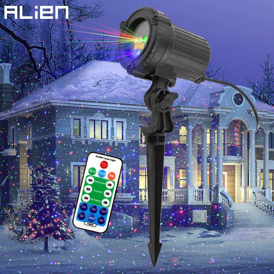 جهاز عرض ضوئي مقاوم للماء مع نقاط حمراء وخضراء وأزرق ، مقاوم للماء ، بقعة ضوء منقطة ، مثالي للحديقة أو الكريسماس