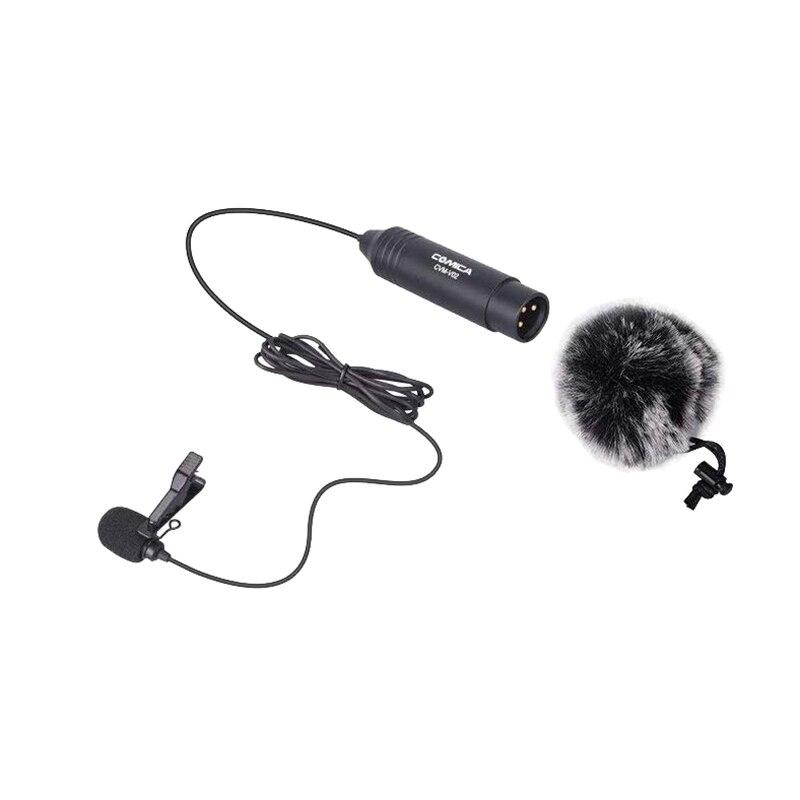 COMICA CVM-V02C micrófono de solapa cardioide para Panasonic Canon Sony Nikon videocámaras, 48V Phantom Clip de alimentación en el micrófono para el Zoológico de TASCOM