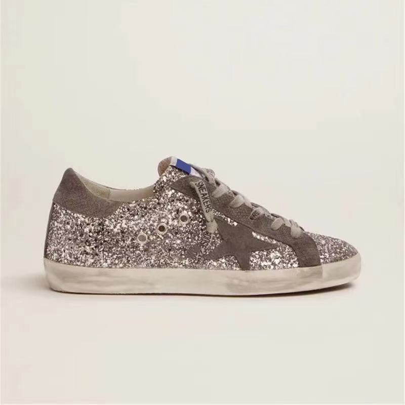 2021 Autumn and Winter New Product Children's Shoes Silver Sequins Retro Old Fashion Non-slip Parent-child Casual Shoes QZ144 enlarge