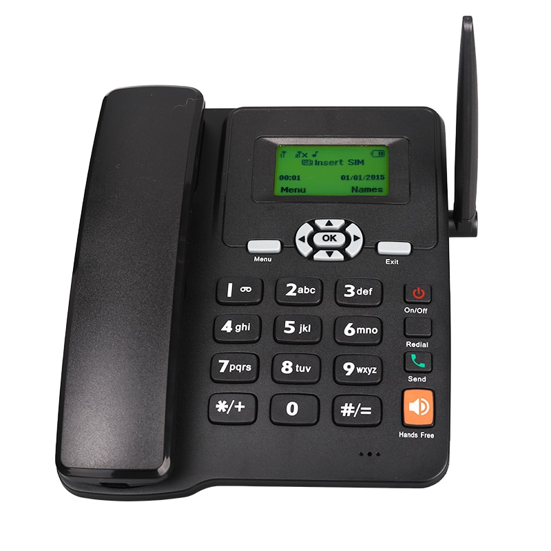 GSM Dual SIM Landline With Low Cost can be used for all Telecom Operaqtors support English Russian Spanish Arabian Multilanguage
