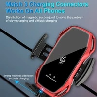 10w wireless car charger automatic clamping for iphone12 huawei xiaomi samsung infrared induction car bracket wireless charger