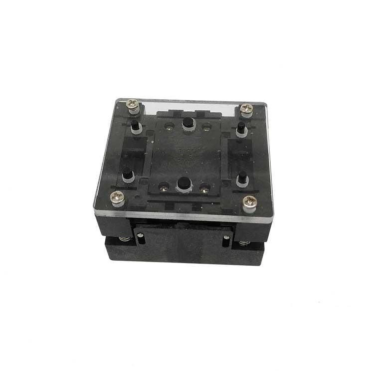 DFN8 QFN8 WSON8 Open Top burn in socket Pogo Pin IC Test Socket Pitch 0.8mm Chip Size 4x3 Flash Adapter Programming Socket