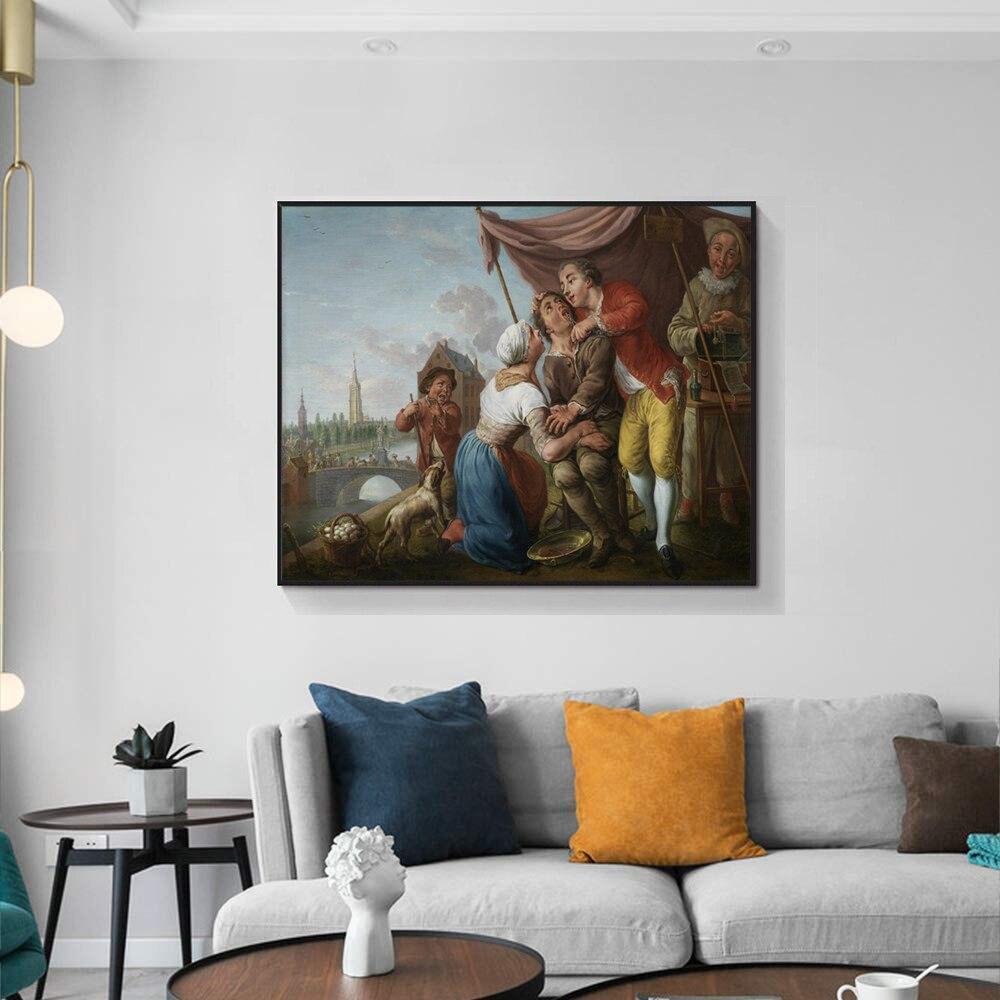 Obra de arte del póster de Cassisy Jan Anton Garemijn, pintura sobre lienzo del dentista Bellavita, Impresión de caligrafía, decoración de sala de estar, arte sin marco