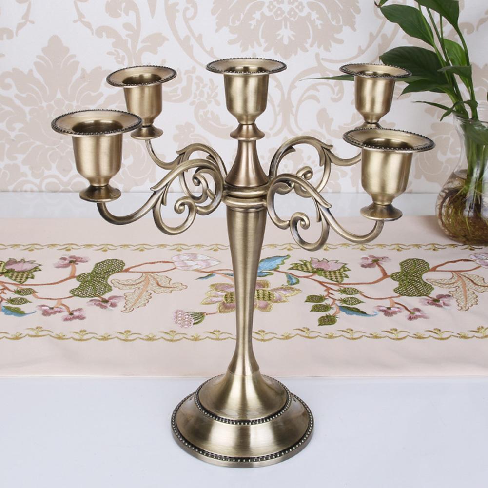 Candeleros metálicos antiguos Retro de 3/5 brazos, candeleros, candeleros románticos PARA CENA, decoración mesa boda decoración del hogar