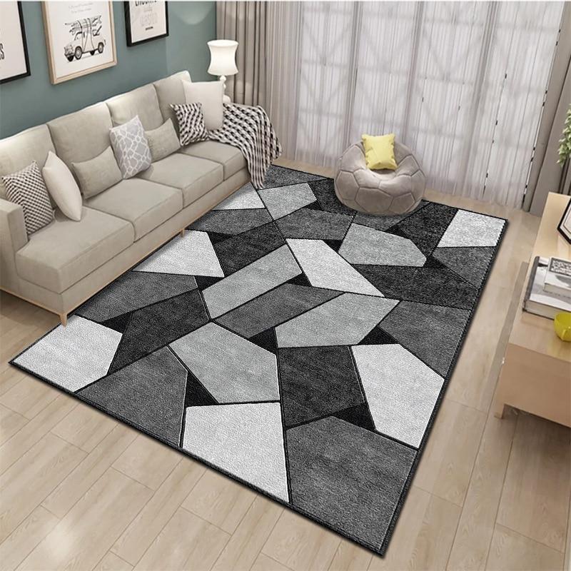 Geometric printed rug living room carpet living room area rugs decoration bedroom large size carpet