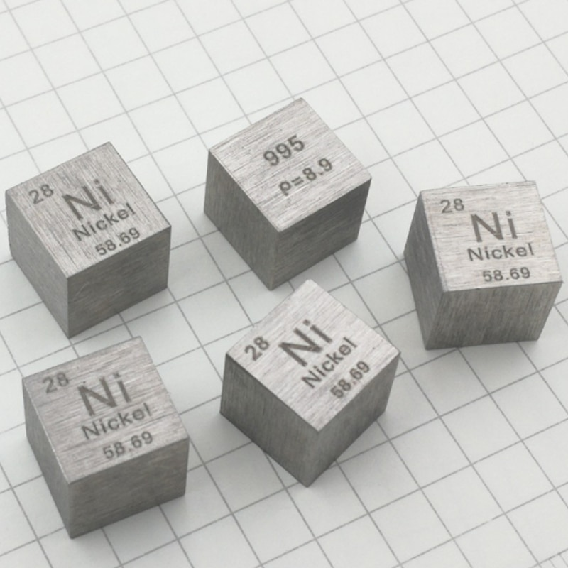 8.64g Ni 99.5% High Purity Nickel Metallic Nickel Periodic Cube Element Hobby Display Collection 10*10*10mm