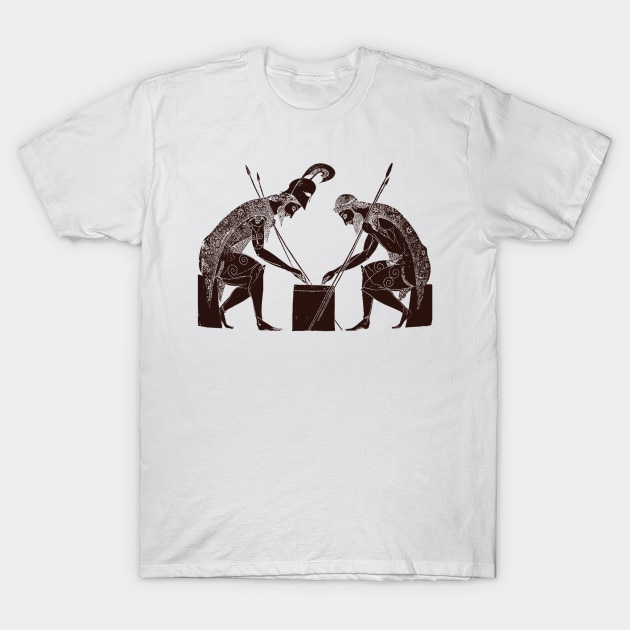 Camiseta de hombre achiles Ajax jugando al ajedrez camiseta mujer camiseta