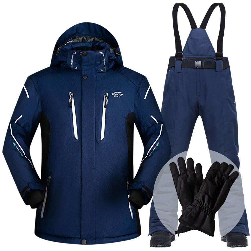 Лыжный костюм мужской зимний 2020 водонепроницаемый ветрозащитный плотный теплый зимний костюм мужской лыжный комплект куртка лыжный и сноу...