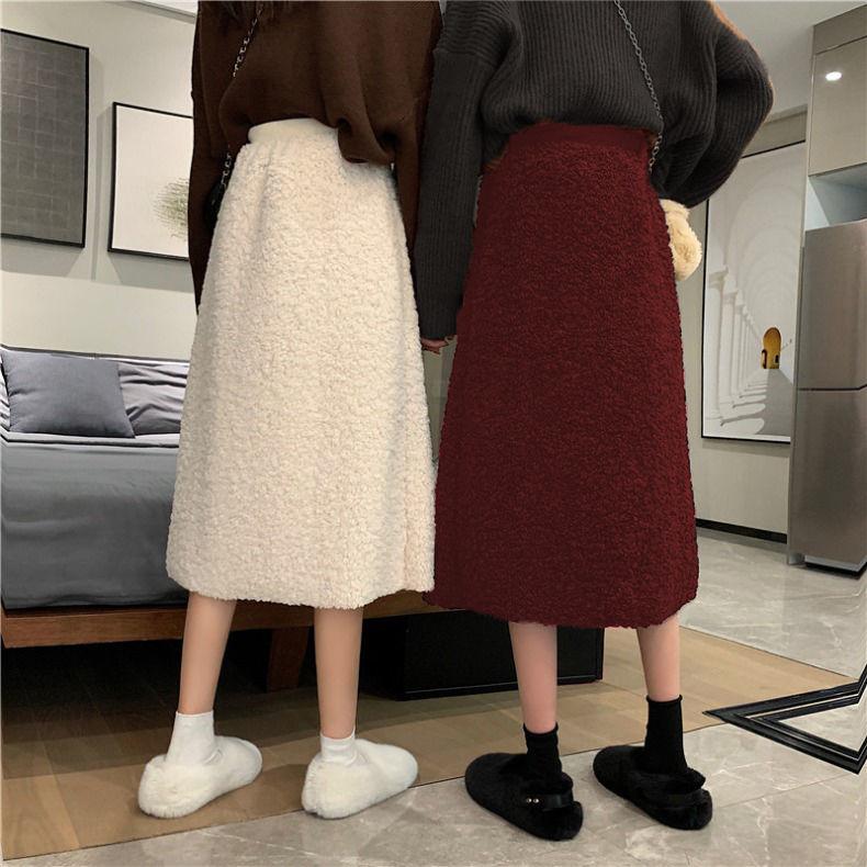 Женская юбка с высокой талией, блестящая облегающая юбка средней длины со стразами, юбка-зонтик в Корейском стиле, Новинка осени 2021