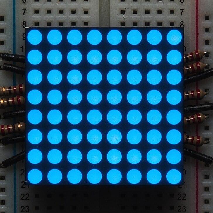 8x8 azul vermelho led matriz display led módulo 32x32mm-cátodo comum