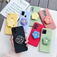 3d silicone cartoon flower phone holder case for samsung galaxy a52 a72 a32 4g 5g galaxi a12 a42 a02 a51 a71 stand back cover