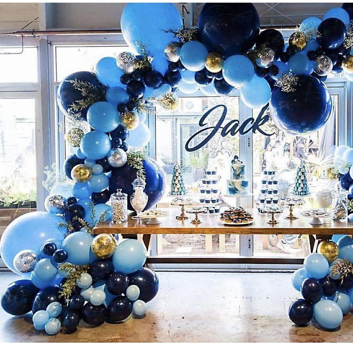 300 шт., 12 дюймов, королевский синий, темно-синий, конфетти, воздушные шары, арочный комплект для детского душа, свадьбы, дня рождения, юбилея, у...