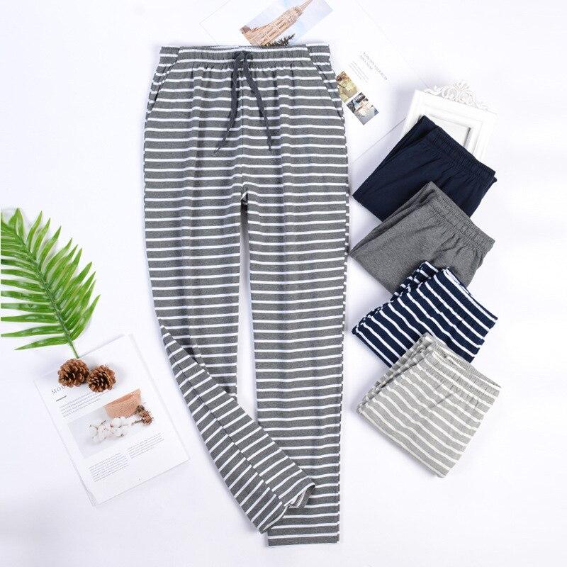 Sleep Bottoms Casual Male Home Pants Cotton Sleepwear 2021 New Oversize Pajamas Trousers Lounge Wear