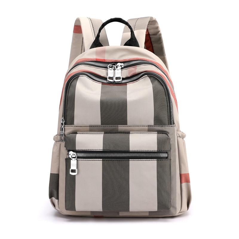 2020 New Casual Vintage Plaid Backpack Women Waterproof Nylon School Bags for Teenage Girls High Quality Fashion Travel Rucksack