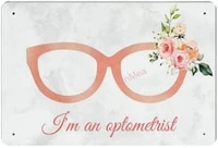 im an optometrist retro metal tin sign plaque poster wall decor art shabby chic gift suitable