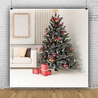 laeacco christmas tree fashion interior gift sofa baby birthday portrait backdrop photographic photo background for photo studio
