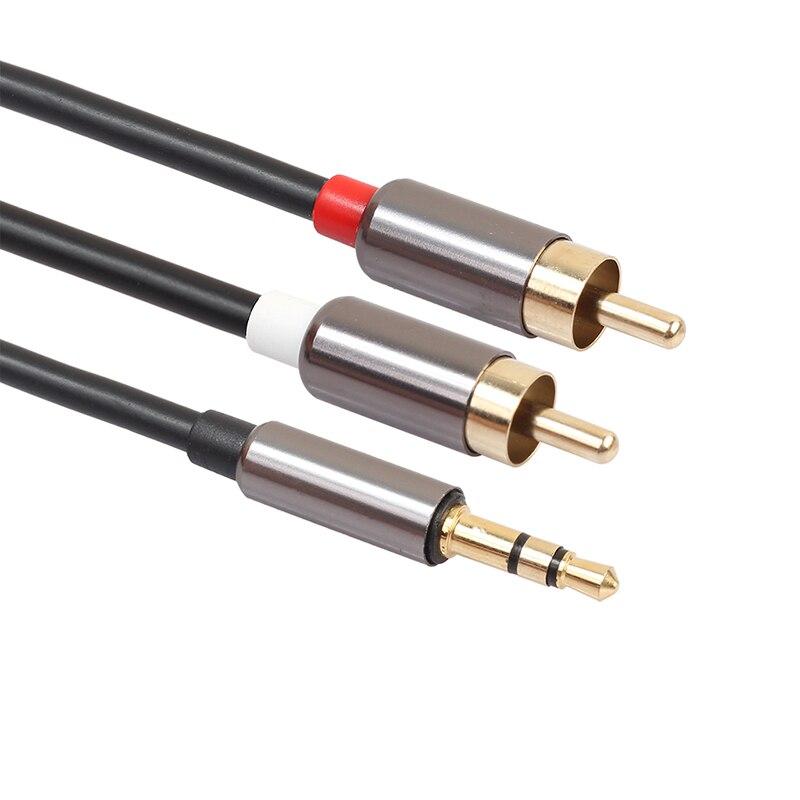 3,5 мм штекер 2 RCA Мужской кабель аудио кабель для наушников сплиттер Aux Кабель-адаптер провод для усилителя телефона театральные наушники