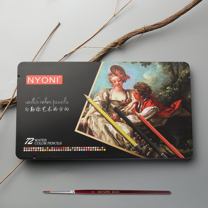 12/24/36/48/72 Watercolor Pencils Premium Soft Core lapis de cor Professional Soluble color Pencil for Art School Supplie