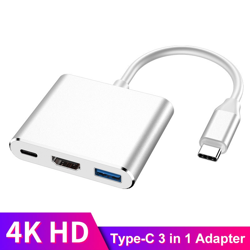 AliExpress - USB C Type C HDMI-compatible Mac 3.1 Converter Adapter USB Hub Type C to USB 3.0/Type-C Aluminum For Apple Macbook Adapter