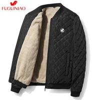 2020 men parka cotton winter plus velvet thick jacket mens warm coat male baseball collar zipper casual coats down parkas 4xl