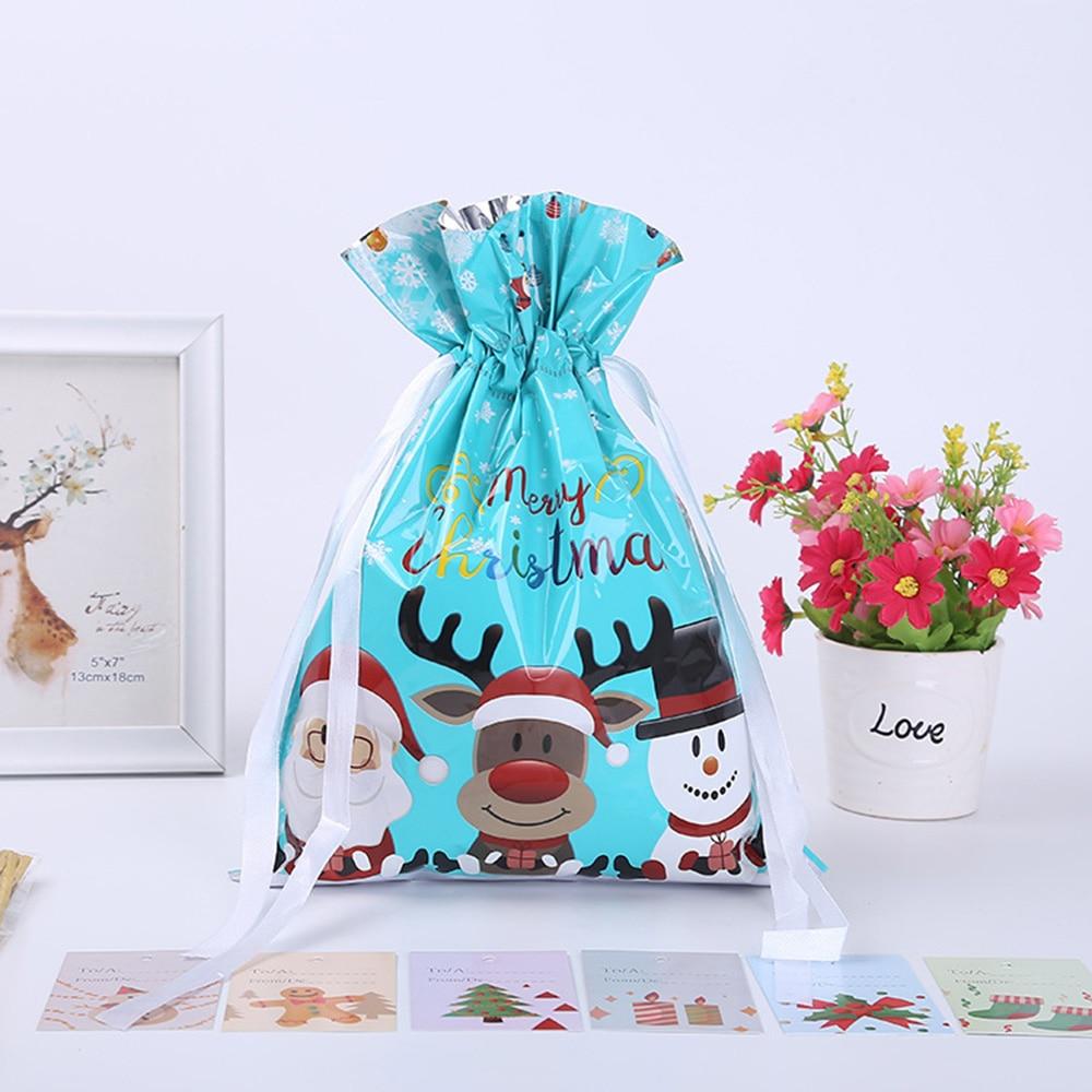 هدية الكريسماس الحاضر حقيبة التفاف عيد ميلاد حلوى الشوكولاته حقيبة الديكور 30 قطعة