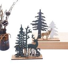 2019 renos de madera empalme venado para decoración navideña Noel Navidad adorno para el hogar Decoración para regalo de niño decoración para fiesta de Navidad