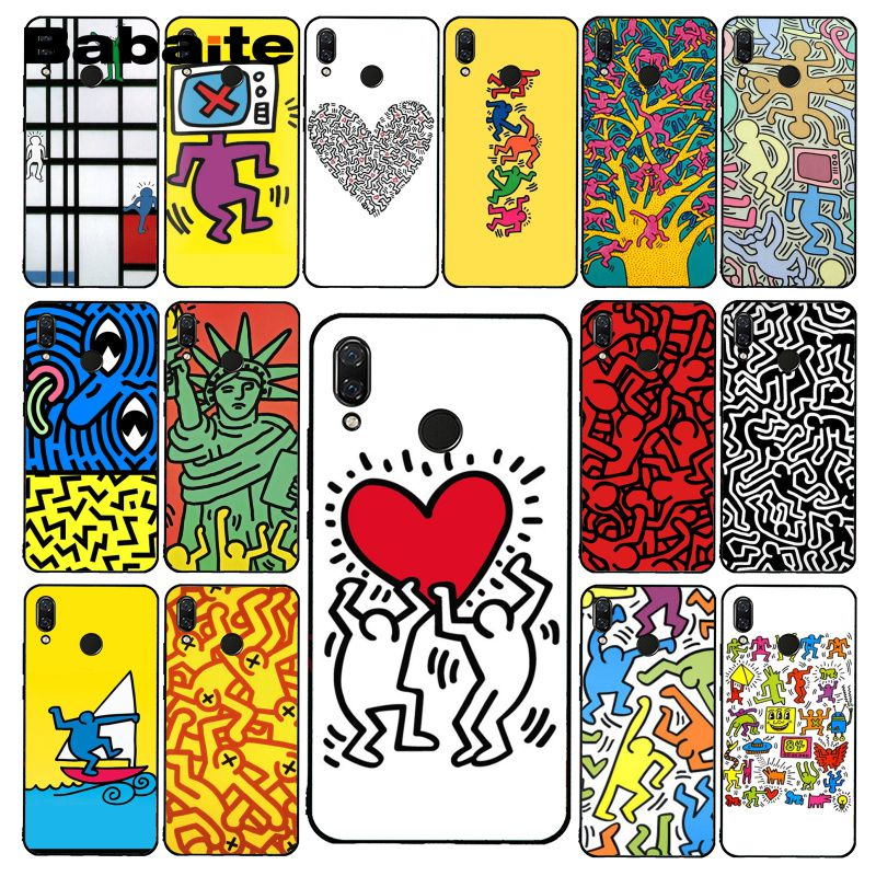 Babaite Keith Haring art funda de teléfono para Xiaomi Redmi8 4X 6A 9 Go Redmi 5 5Plus Note8T Note8Pro