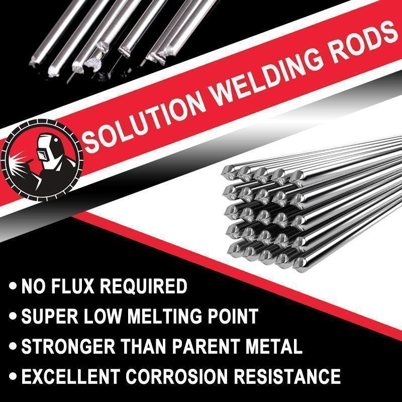 Varilla de soldadura de aluminio para soldar, varillas de núcleo fundente para...