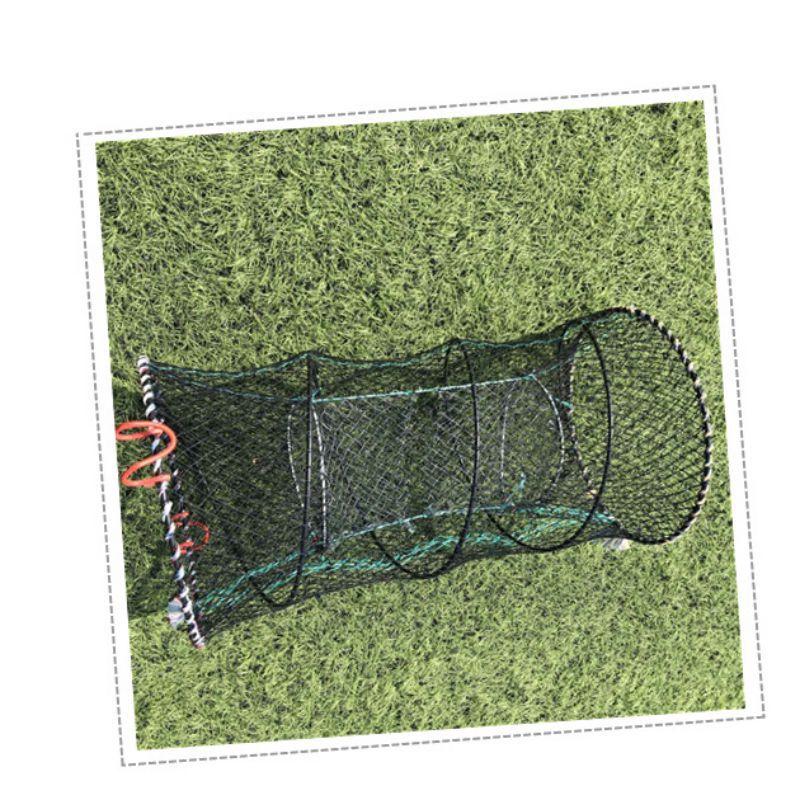 1 unidad de trampa de cangrejo para pesca, trampa plegable, red de pesca, cebo vivo para camarones