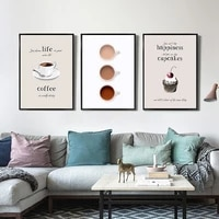 decoracion hogar moderno ktichen poster dessert canvas print wall art posters and prints coffee wall pictures for living room