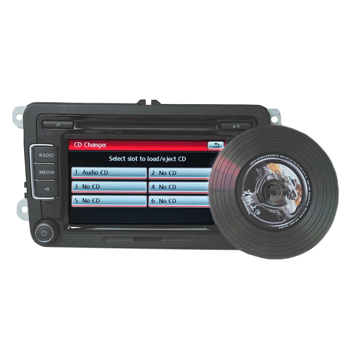 La Radio del coche RCD510 FM CD MP3 jugador AUX USB RVC/con código de cámara de visión trasera para VW Golf Passat CC Tiguan Polo Golf MK5 MK6 Jetta