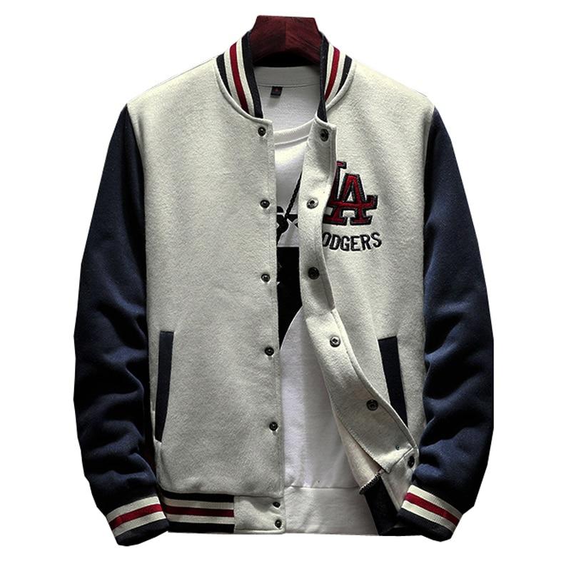Мужской Бомбер, однотонная Повседневная бейсбольная форма, куртка в рубчик с рукавами на флисе, распродажа, 2020