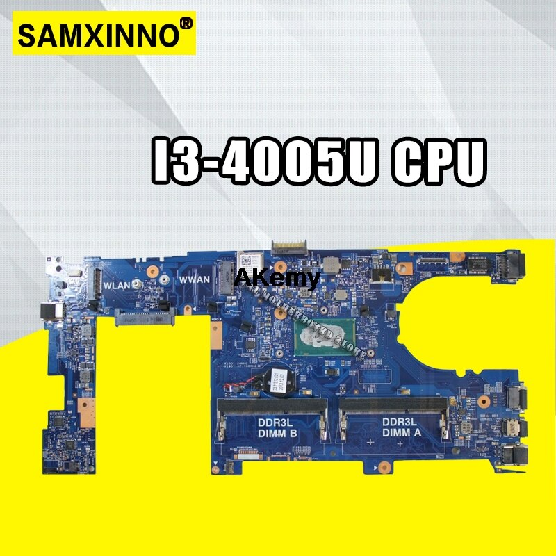 Para For DELL Latitude 3340 ordenador portátil para la placa base MYK5G 0MYK5G CN-0MYK5G DDR3L I3-4005U CPU DLR30 13229-1 5X37M
