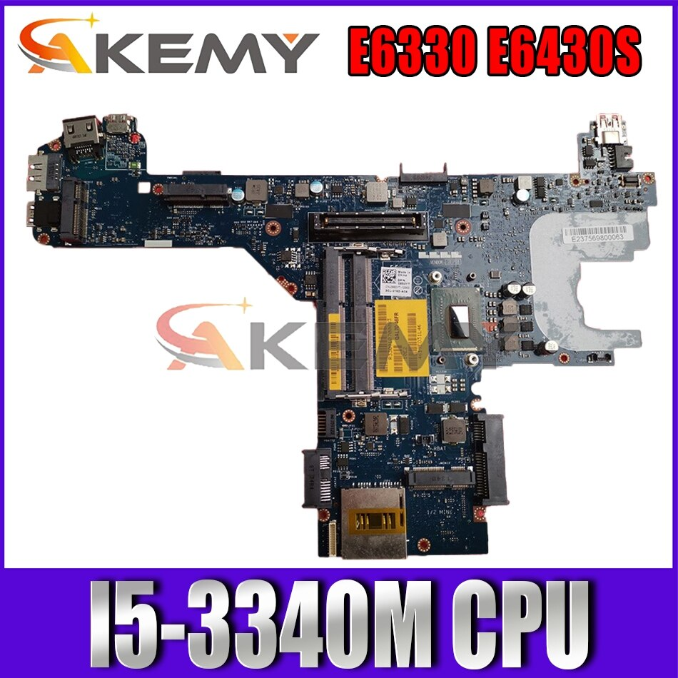Akemy I5-3340M لديل خط العرض E6330 E6430S اللوحة الأم قل70 LA-7741P CN-0NXYGV NXYGV اللوحة الرئيسية 100% اختبارها
