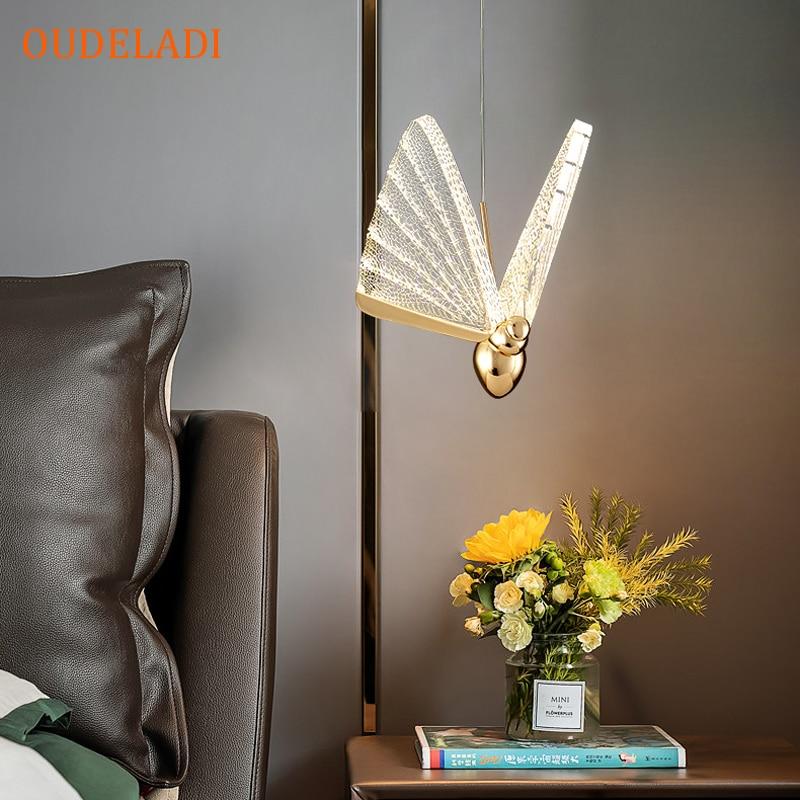 الحديث LED فراشة معلقة تركيب المصابيح غرفة نوم السرير غرفة المعيشة المطبخ طاولة طعام بار ديكور قلادة ضوء