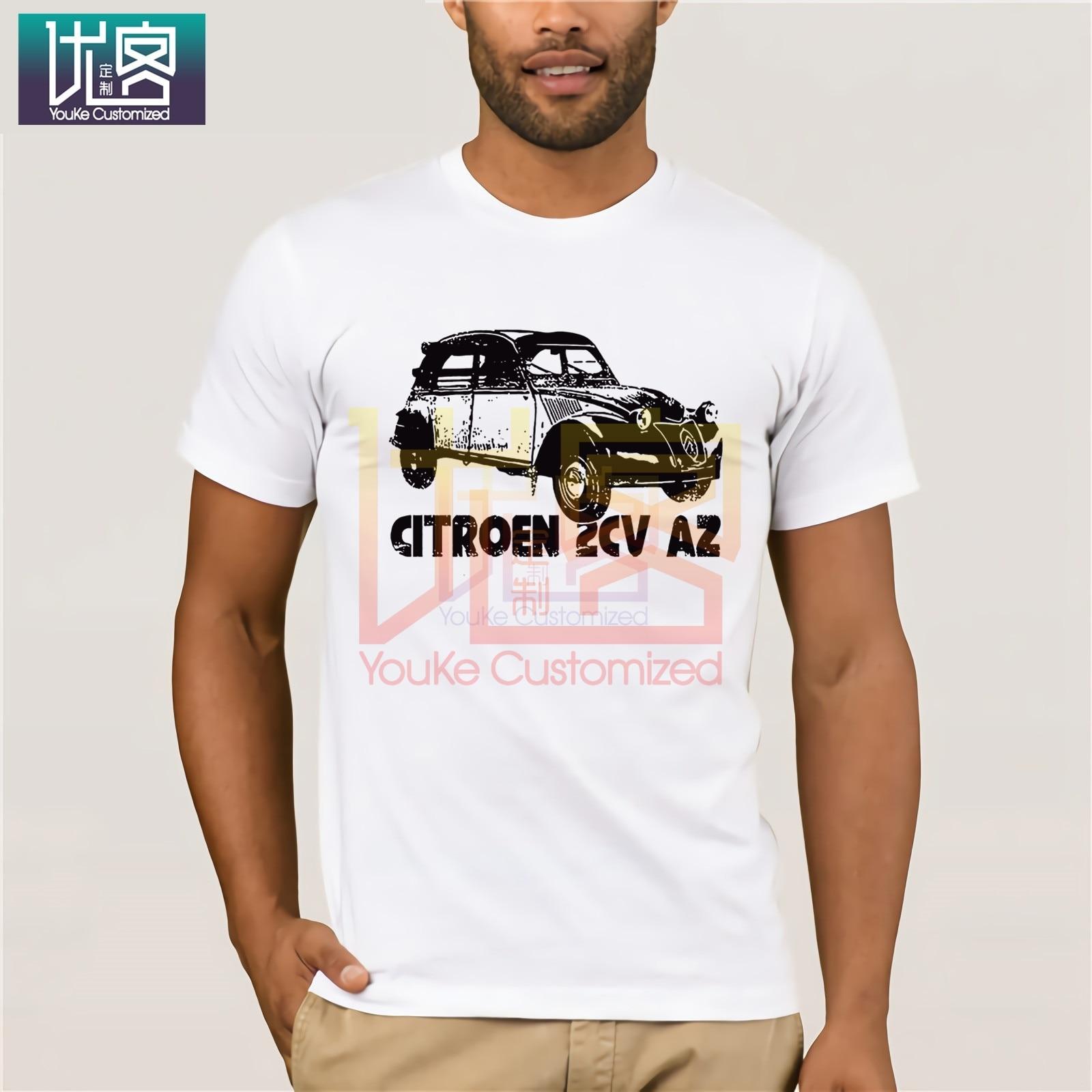 2020 nueva camiseta de Hip Hop de verano para hombres, camiseta 2 CV Citroen France, camiseta delgada de algodón para hombre