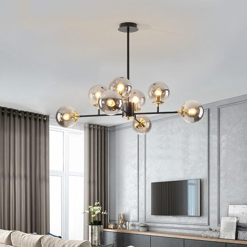 مصباح معلق LED داخلي مع كرة زجاجية ، WF ، إضاءة داخلية ، إضاءة سقف زخرفية ، مثالية لغرفة النوم أو غرفة المعيشة