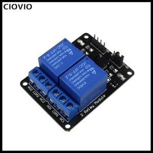 CIOVIO 10PCS 5v 12v 1 2 4 6 8 channel relay module with optocoupler Relay Output 1 2 4 6 8 way relay module for arduino In stock