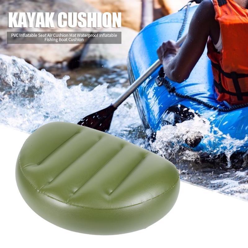 Cojín portátil de asiento inflable para Kayak verde de PVC, herramienta para deportes acuáticos al aire libre, botes inflables duraderos para hombre y mujer