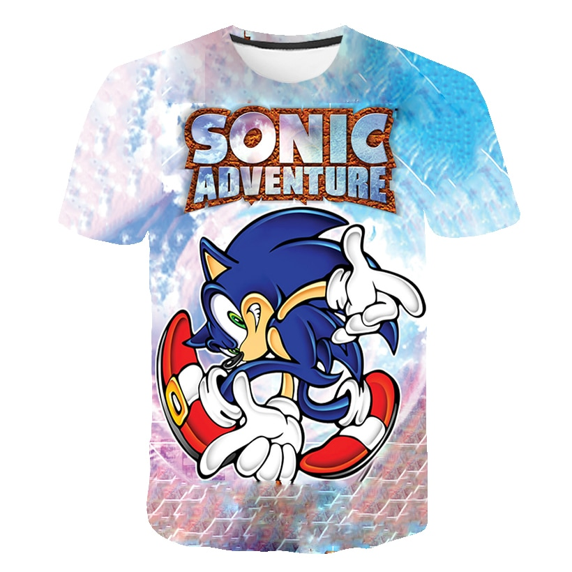 Sonic Rock Cool 3D camisetas para hombre motocicleta Punk 3D camiseta para hombre estampada ropa camiseta verano Top Homme Hipster Pop manga corta