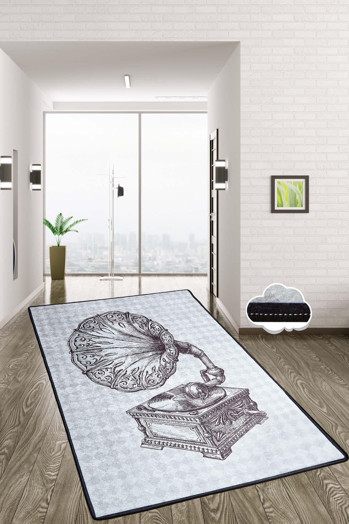 غراموفون-سجادة مستطيلة لغرفة المعيشة ، حديثة ، غير قابلة للانزلاق ، ديكور للمنزل