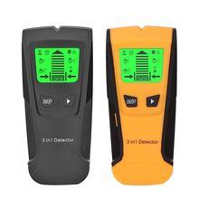 Más nuevo 3 en 1 de Metal Detector de tacos de madera Metal Detector de voltaje CA en directo de detectar pared escáner caja eléctrica de pared Detecto
