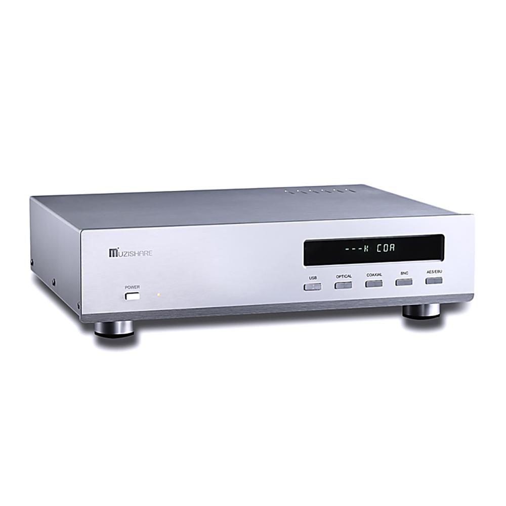 Muzishare r10 dac tubo 12au7 es9018 decodificador de áudio de alta fidelidade 32bit xlr dac