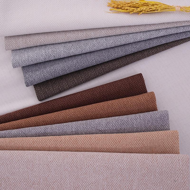 Ткань для обивки льняной хлопковой ткани, ткань для дивана, полиэфирная ткань по метрам, льняная ткань для шитья, сумка для хранения