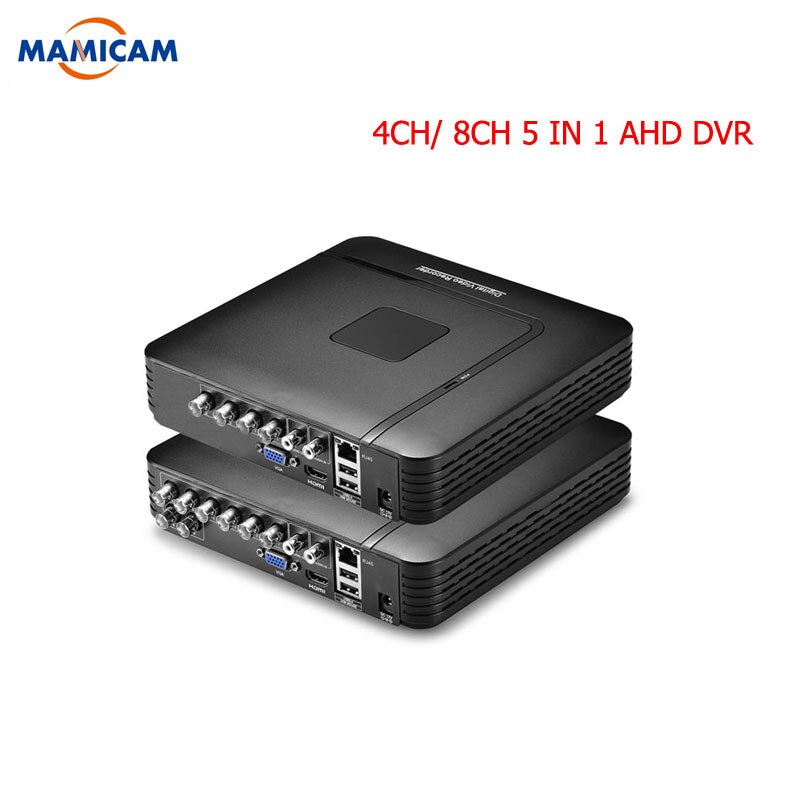 4 kanal 8 Kanal AHD DVR Überwachung Sicherheit CCTV Recorder DVR 4CH 720P / 8CH 1080N Hybrid DVR Für analog AHD IP
