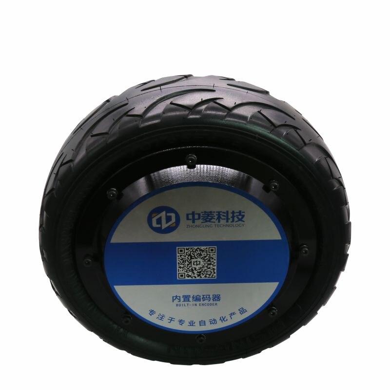 10-inch Heavy-duty Rubber Tire Built-in Encoder AGV DC Brushless Hub Servo Motor Electrical 24V ZLLG100ASM800-R enlarge
