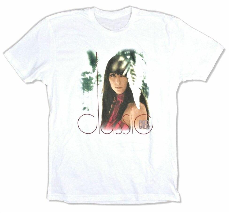 Cher Classic febrero 2019 muestra camiseta blanca nuevo concierto Merch ropa deportiva camiseta