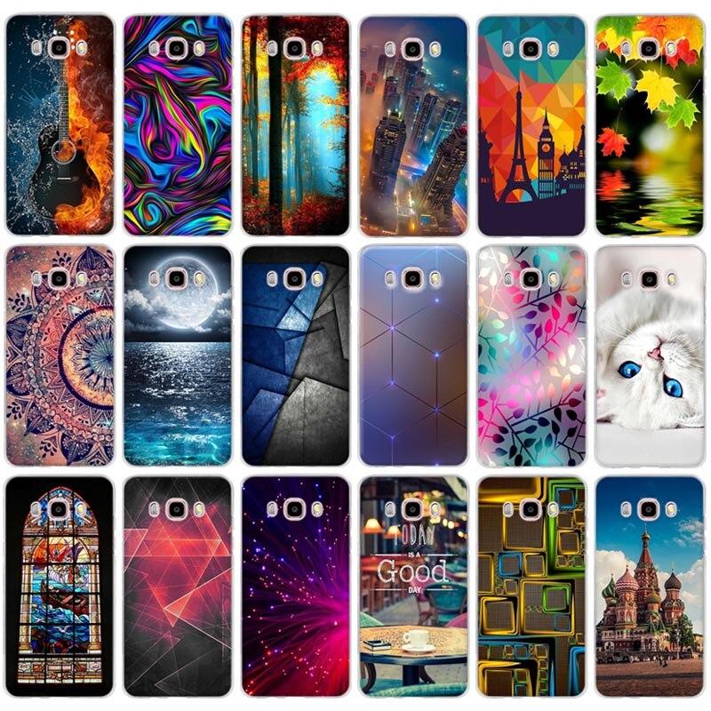 For Samsung Galaxy J5 2016 J510 J510F SM-J510F Cover 3D Relief Soft TPU Case For Samsung J510 sm-j510f j510fn J5 2016 Case Bags