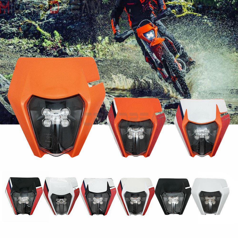 9 estilos Enduro Visor LED Kit de faros E8 la máscara de luz para Husqvarna FC250 TE450 TE125 TX300 KTM EXC-F XC-F EXC seis días TPI